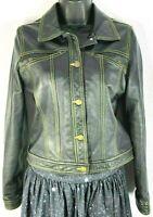 BCBG MAXAZRIA 100% Leather Jacket Women's S Vintage Motorcycle Jacket Moto Used