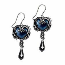 Alchemy Gothic Affaire du Coeur Drop Earrings - Delphic Romance Crystal