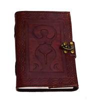Notiz Tagebuch Schwangerschaft Skizze Leder Vintag Handarbeit Indien Mutter Erde