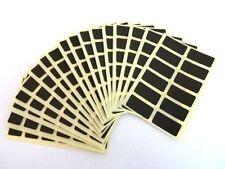 100 Labels,25x12mm Rectangle,MATT BLACK ,Self Adhesive Colour Code stickers DIY