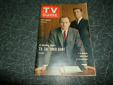 TV Guide May 18 1963 America's Television Magazine + Illustrated