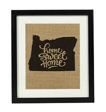 Darling Souvenir Home Sweet Home Burlap Oregon State Map Housewarming-DSBP202