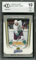 2005-06 ud mvp #415 COREY PERRY anaheim mighty ducks rookie card BGS BCCG 10