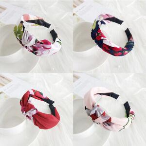 Headband Band Knot Twist Accessories Bow Tie Hairband Women's Cross Hair Hoop