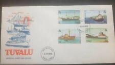 O) 1978 TUVALU. SHIPS -PACIFIC EXPLORER- LAWEDUA-TUGA WALLACIA-FREIGHTER CENPAC