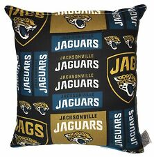 Jaguars Pillow Jacksonville Pillow NFL Florida Pillow Handmade In USA Jags