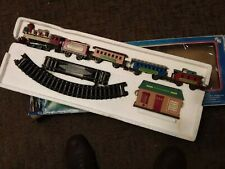 Vintage Battery Operated Locomotion  Village Express Christmas Train Set Used