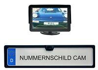 """KFZ Kennzeichenhalter mit integrierter Rückfahrkamera & 4.3"""" Monitor"""
