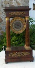ancienne pendule à colonne portique XIX ème Empire
