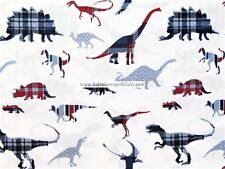 100% COTTON DINOSAUR SHEET SET ~ SIZE TWIN ~ RED WHITE BLUE DINOSAURS