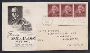 USA George Eastman First Day Cover - Rochester Jul 12 1954 FDC CDS - Scott 1062