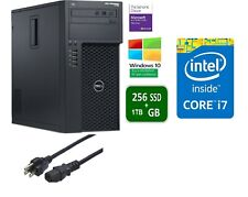Dell Precision T1700 Tower Core i7 3.4GHz 16GB 256GB SSD + 1TB HDD Win10 Pro