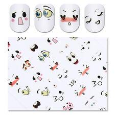 Adhesive 3D Nail Sticker Kawaii Facial Expression Nail Art Decoration Sticker