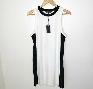 Rag & Bone Sam Striped Bright White Colorblock Mini Dress, Size Small NWT $295