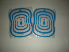 Set of 2 - Blue with Fish Picture Small Flexible Cutting Matts - 8 in. x 6 in.