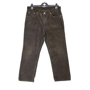 Mens Levis Lot 702 Needle Corduroy Trousers Cords W34 L27  #B16