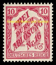 EBS Germany 1905 Official 10 Pfennig Michel Dienst 12 MH*
