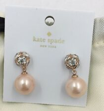 Kate Spade Lady Marmalade Pearl Earrings Light Blush With Dust Bag O0ru2142