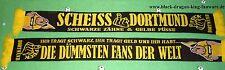 """Anti Dortmund Schal """"Schwarze Zähne..."""" Fan Kurve Block Ultra 100% Acryl + neu +"""