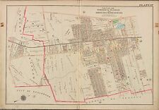 1913 G.W. BROMLEY, TEANECK, BERGENFIELDS BERGEN COUNTY NEW JERSEY COPY ATLAS MAP
