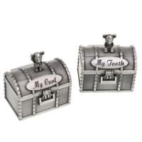 Mud Pie H8 The Kids/' Shoppe Baby Girl Ceramic Keepsake Box Unicorn Tooth /& Curl