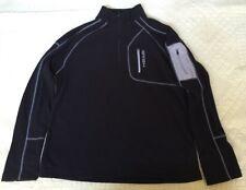 HEAD Mens Fleece 1/4-Zip Size M Black Classic Top
