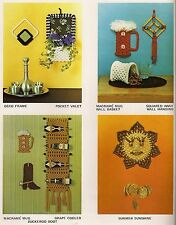 PD1143 Sun Wall Hanging & Wine Rack Patterns in Macrame on the Move Craft Book