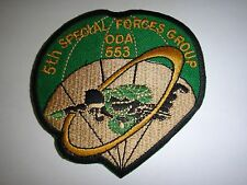 5th Special Forces Group Operational Detachment ODA-553 Vietnam War Patch