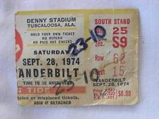 VINTAGE 1978 ALABAMA VS VANDERBILT FOOTBALL TICKET STUB