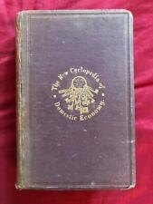 1872 ANTIQUE COOKBOOK COOKING MEDICINE COOKERY PERFUMERY TOILET HOUSEHOLD