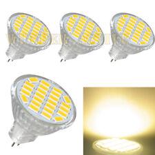 4x MR11 GU4 LED Lampe 3W 24 SMD 5730 Leuchtmittel Birne warmweiss 400LM DC 12V