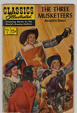 """Jan. 1965 No. 1 Classics Illustrated """"The Three Musketeers"""" Gilberton Comic Book"""