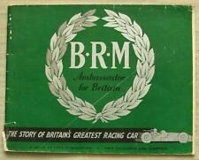 BRM THE STORY OF BRITAIN'S GREATEST RACING CAR Daily Express Publication 1950