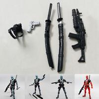 Weapons Guns Accessories for 6'' X-Men Deadpool Action Figure Weapon Pack