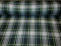 SOLD BY YARD~  Dress Gordon ~Fabric Green White Tartan~ Upholstery
