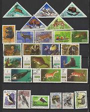 oiseaux et animaux 1960/70 RUSSIE 4 série  30 timbres oblitérés  / T1418