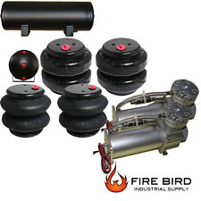 Air Ride Suspension Parts Dual Air Compressor Four Air Bags 5 Gallon Tank xzx