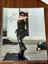 The Matrix Autographed Hand Signed 8x10 Trinity Carrie-Anne Moss Rooftop Scene