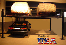 USA Made Storage Parking Double Wide Car Lift SGT-9000XLT/17 -9,000 lbs Capacity