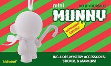 "Kidrobot Mini Munny Ornament Edition 4"" White Blank Soft Vinyl Figure Toy - New"