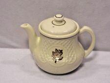 Vintage Porcelier Teapot Shabby Rose Gilded Flower Off White Porcelain