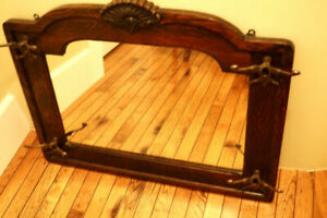 Gorgeous Victorian Tiger Oak Wall Mounter Coat Rack W/Brass Hardware