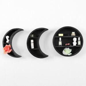 New Shelf Display Unit Witch Coffin Triple Moon Crescent Halloween Pentagram