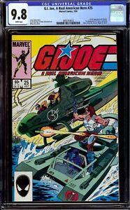 G.I. Joe A Real American Hero #25. CGC 9.8 NM/M. First full appearance of Zartan