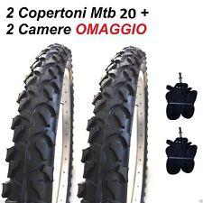 2 Copertoni MTB 20 Per Bici Bicicletta Mountain Bike 20x1.95 Gomme Pneumatico