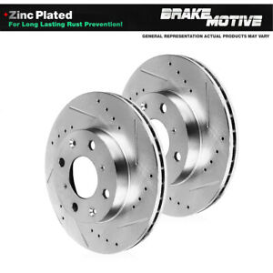 Front Drilled And Slotted Plated Brake Rotors For 1998 1999 Nissan 200SX Sentra