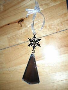 Job lot bundle 20 x Gorgeous Mirror Christmas Tree Decoration star silver 99p
