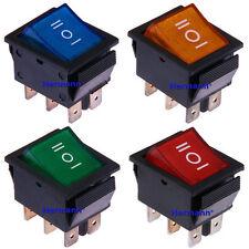 Wippschalter 12V und 230V Ein/Aus/Ein Rot Blau Grün Gelb Beleuchtet Kippschalter