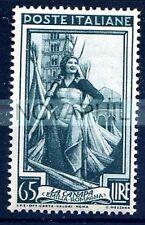 ITALIA 1950 - ITALIA AL LAVORO RUOTA  Lire 65  NUOVO **