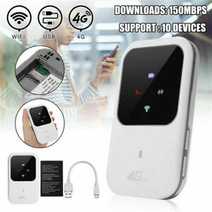 Unlocked 4G-LTE Mobile Broadband WiFi Wireless Router Portable Hotspot SIM Card